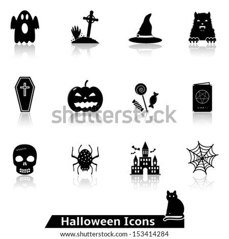 Halloween icons for website - stock vector