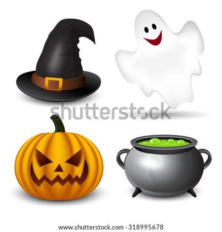 Halloween icons-set  - stock vector