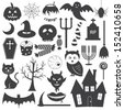 Halloween Icons Vector Set - stock vector