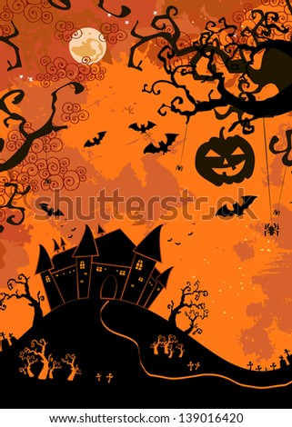Halloween illustration. Background - stock vector