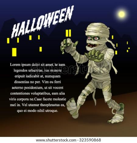 Halloween illustration background - stock vector