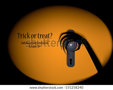 Halloween illustration vector suitable for party invitations with scary theme and space for your text