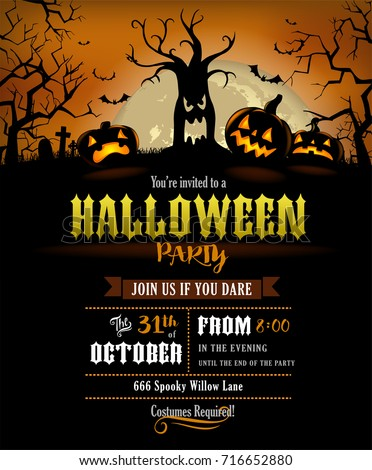 Halloween Invitation Stock Images, Royalty-Free Images & Vectors ...