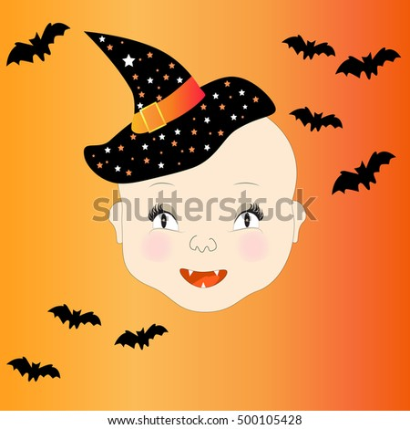 Halloween little witch EPS10