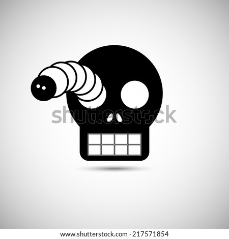 Halloween mask. Vector Illustration