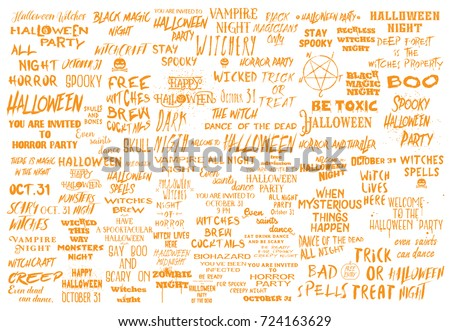 Halloween Mega Set Of Over 100 Black And White Scary And Spooky Quotes  About October 31