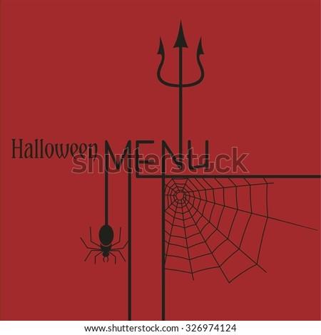 Halloween menu - stock vector