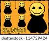 halloween monsters - stock vector