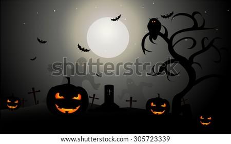 Halloween Night Stock Vector 305723339 - Shutterstock