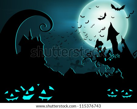 Halloween night background. EPS 10.