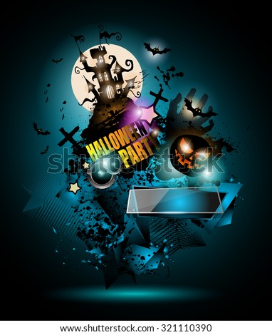 halloween night event flyer party template stock vector royalty