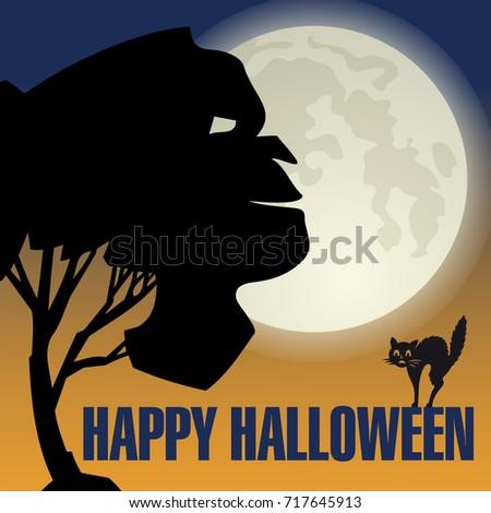 Halloween Orange Holidays Card Invitation Autumn Vector – Scary or Horror Invitation Cards