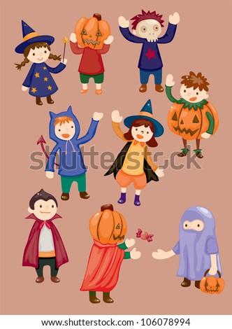 Halloween party child icon - stock vector