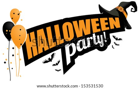 Halloween party design element. EPS 10 vector, grouped for easy editing. No open shapes or paths. - stock vector