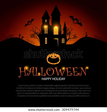 Halloween Party Design Template. Vector illustration