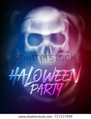 Halloween Party Flyer Brochure Template Transparent Stock Vector