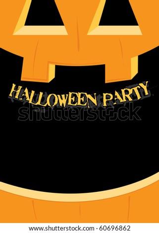 Halloween Party Invitation - stock vector