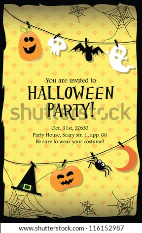 halloween party invitation card - Party Halloween