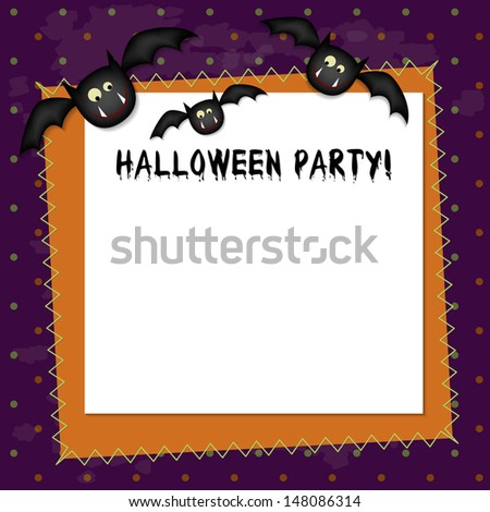 Halloween Party Invitation. Funny Halloween Party Invitation with spooky elements. - stock vector