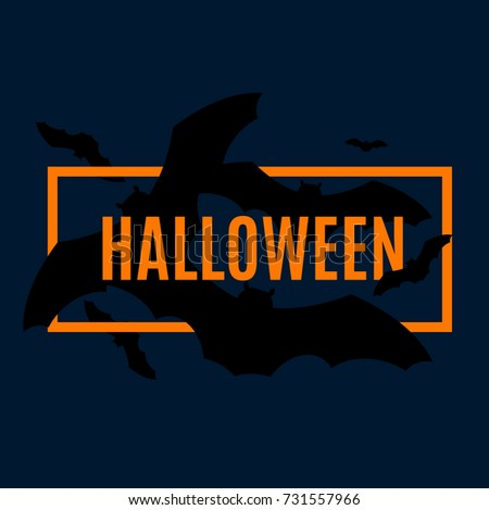 Halloween Party Night Brand Vector Name Stock Vector 731557966 ...