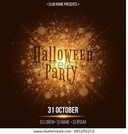 halloween party text in the style of horor abstract bright flash of light with - Names For A Halloween Party