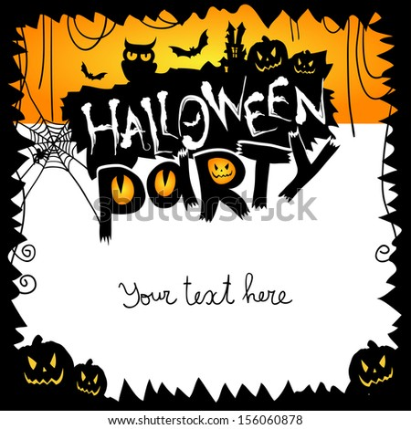 Halloween party. Vector illustration - stock vector