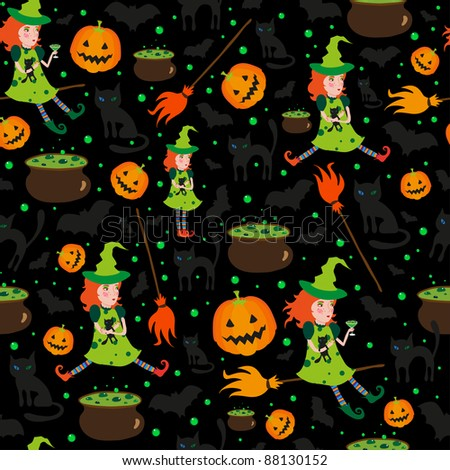 halloween pattern - stock vector