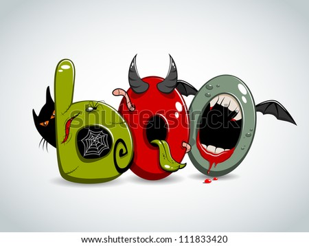 Halloween picture. Boo! - stock vector