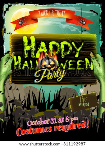 Halloween poster background. EPS 10 vector file included