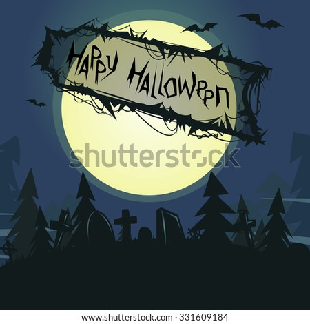 Halloween poster / card / background - stock vector
