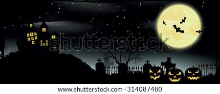 Halloween poster. Halloween background - stock vector