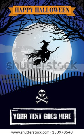 Halloween Poster/Invite - stock vector