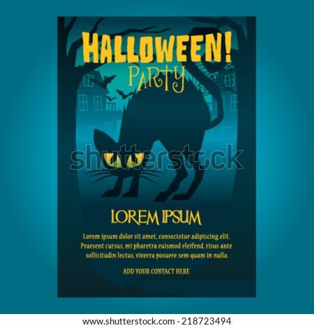 Halloween Poster Vector illustration - stock vector