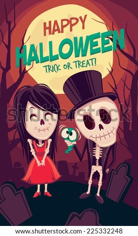 Halloween Poster. Vector illustration - stock vector