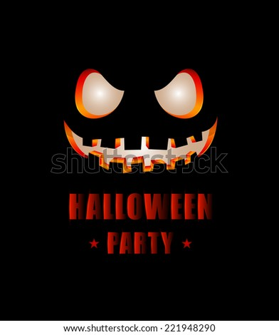 Halloween poster vector illustration. for halloween card and poster halloween festival.