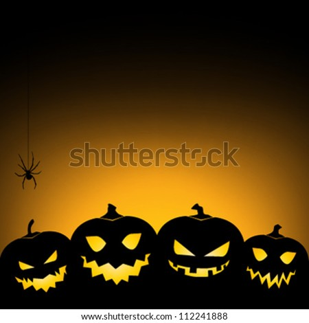 Halloween pumpkin background / card / invitation - stock vector