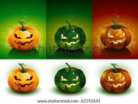 Halloween Pumpkin collection. - stock vector