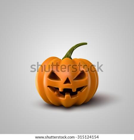 Halloween Pumpkin. Holiday Vector Illustration Of Realistic Pumpkin - stock vector
