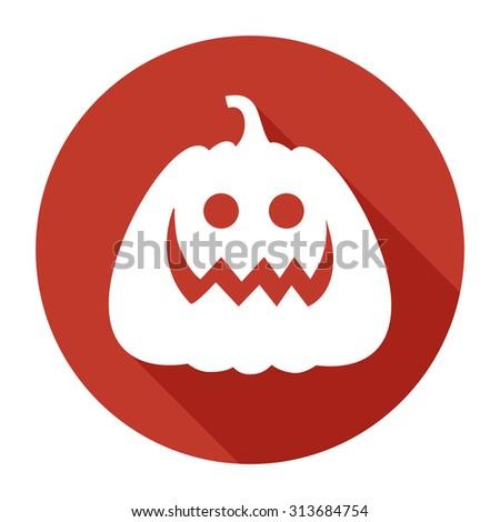 Halloween Pumpkin Jack O' Lantern Vector Illustration, flat - stock vector