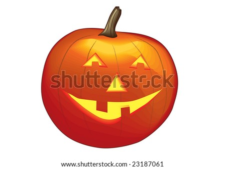 Halloween pumpkin smiling - stock vector