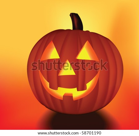 Halloween pumpkin. Vector - stock vector