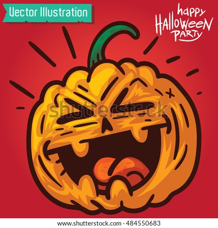 Halloween pumpkin. Vector illustration.