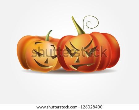 Halloween Pumpkins - stock vector
