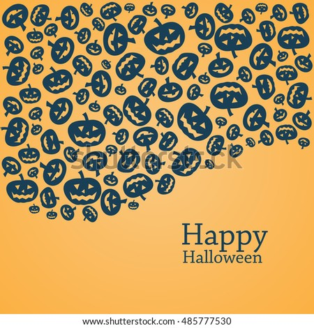 Halloween pumpkins, background with space for text