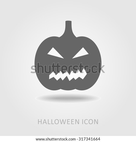 Halloween pumpkins icon, vector illustration