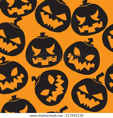 Halloween pumpkins seamless pattern