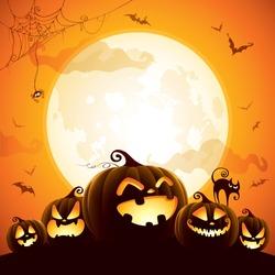 halloween pumpkins under the moonlight - Halloween Pictures Free