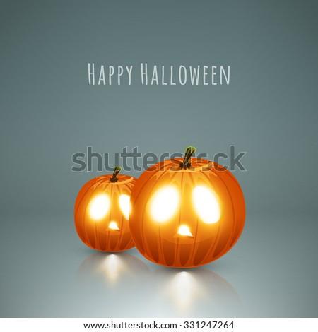 Halloween pumpkins vector stock eps 10 illustration - stock vector