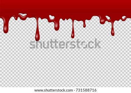 Halloween Realistic Dripping Blood Bath Seamless Stock ...