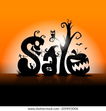 Halloween Sale Stock Vector 209893006 - Shutterstock